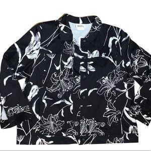 Vintage Hiroko Jacket Black and White Size 18